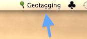 Geotagalog 2.0 geotag helper menu item