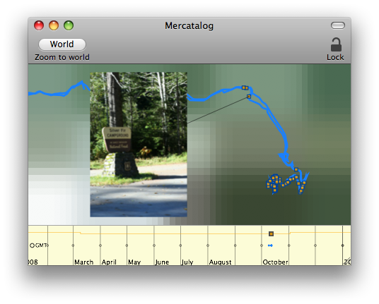 Screenshot of Mercatalog geotagging interface