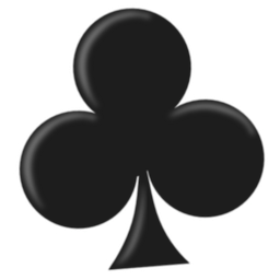 Sesamouse icon, a stylized playing card 'club' symbol.