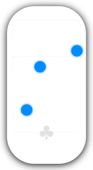 Screenshot of Sesamouse showing touch circles for three fingers